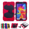 Shockproof Protective Case for Samsung Galaxy Tab 4 8.0 T330 T331 T335 Case Luxury Stand Silicone Heavy Duty Armor Back Cover