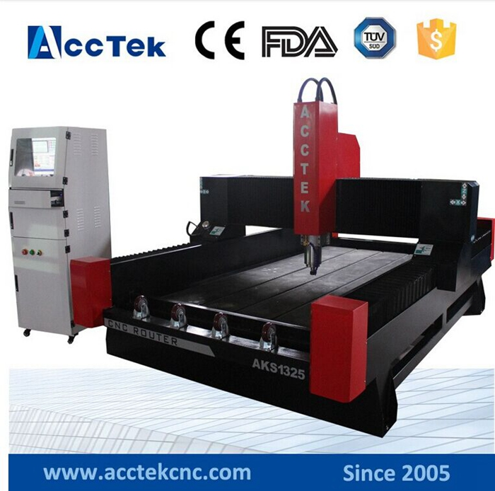High Precision Carving 3d Monuments Granite Marble Stone Cutting Cnc Router Machine Price 1325 Stone Engraving