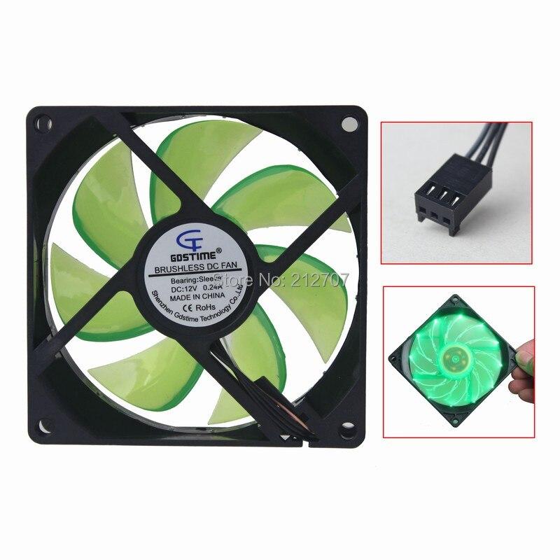 92mm led fan green 6