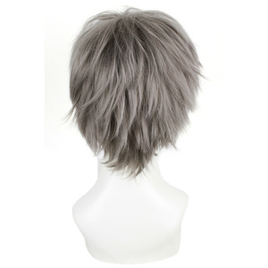 Image 5 - L email wig Haikyuu Hinata Shoyo and Sugawara Koushi Cosplay Wigs 25cm Heat Resistant Short Synthetic Hair Perucas Cosplay Wig