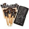 32 шт./компл. Pro макияж кисти set тени для век ресниц губ кисти высокого качества деревянный фонд powder brush make upcosmetic инструмент