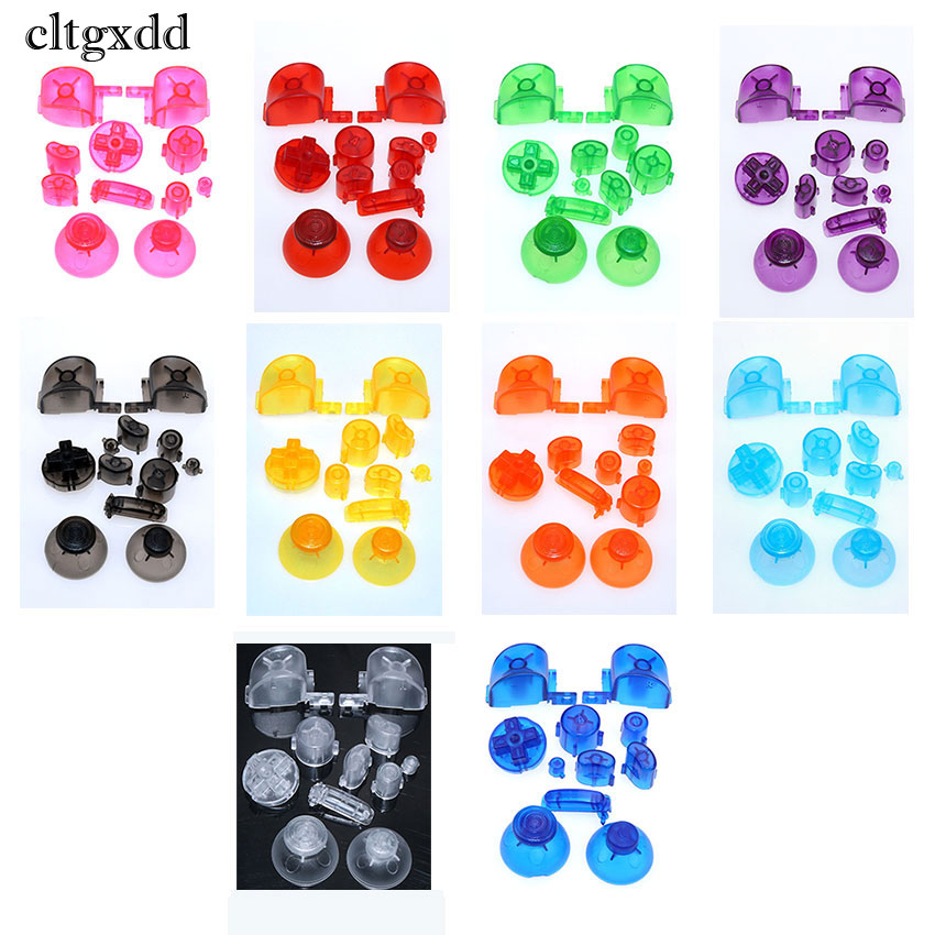 Cltgxdd For Gamecube Controller Mod Colorful Complete Button Set With Thumbsticks For N GC Button Set