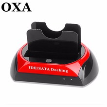 2.5 » 3.5″ IDE SATA USB 2.0 Dock HUB Dual HDD Hard Drive Disk Docking Station Base Support Hard Disk DRIVE EU US UK AU Plug