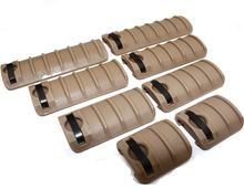 8pcs/set  KAC Knights handguard panel 20mm Picatinny/weaver RaiL Cover Black / DE/FG free shipping