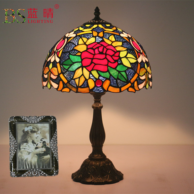 Fashion Design Turkish Mosaic Lamps E27 Base Handmade Glass Lampsahde Bedroom Bedside Vintage Table Lamp Light Fixtures|Table Lamps| |  - title=