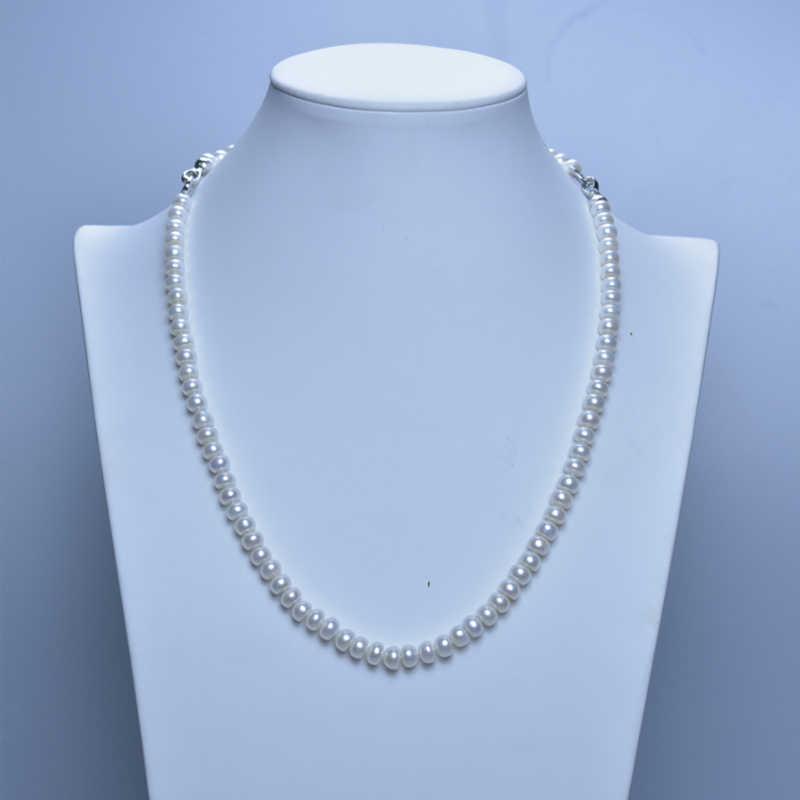 SHDIYAYUN ネックレス真珠ジュエリーセット淡水パールジュエリー愛のボタン 925 スターリングシルバーネックレス女性のギフト