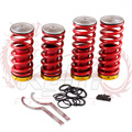 KYLIN STORE -- New Arrived Adjustable Racing Coilovers Springs Lowering Coilovers Springs Kit For Honda Accord 98-02 Red color
