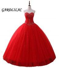 Red Quinceanera Vestidos 2019 Longa Partido Prom Dress Frisada vestido de Baile vestidos de Noiva vestidos de Vestidos de 15 años Doce 16