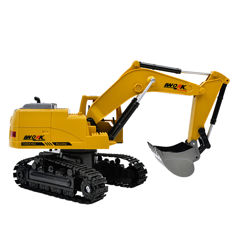 8CH Simulation RC excavator toys with Music and light Children's Boys RC truck toys gifts RC Engineering car tractor brinquedos 2