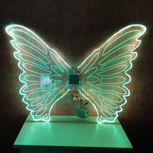 LED Wings Glowing Butterfly Fashion Women Lady Luminous Angel Wings Catwalk Show Clothing Light Suits Dance Dress Accessories