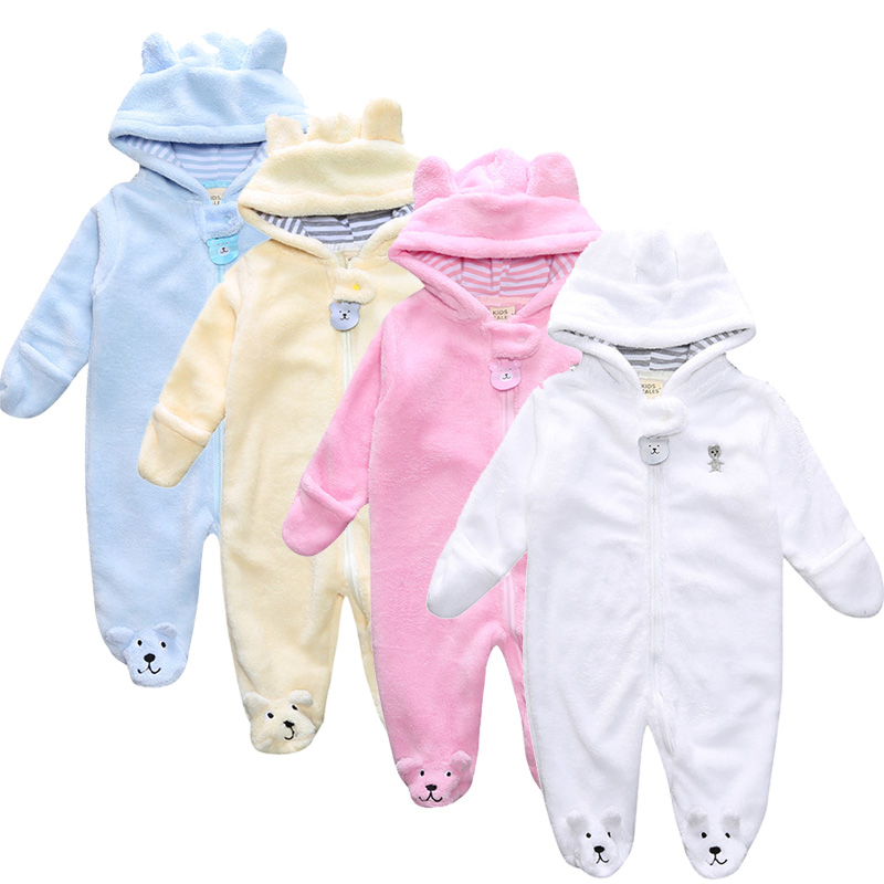 Unisex Newborn Baby Clothes Zipper Baby Boy Romper Colorful Baby Girls Jumpsuits Roupas Bebe Bear Ear Infant Outwear unisex newborn baby boy