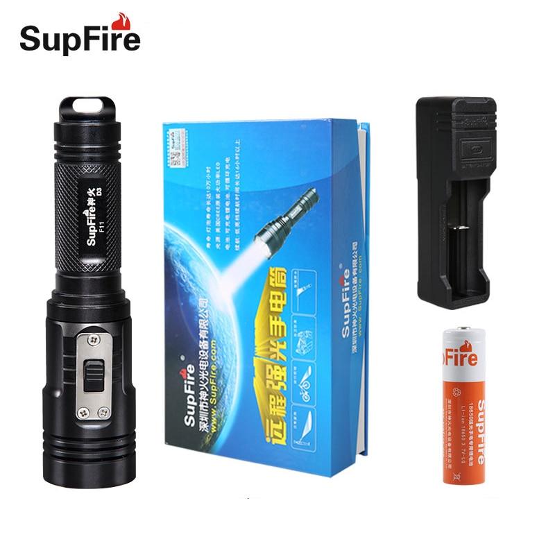 Lampe de poche de plongée Supfire D3 Led lampe torche tactique pour Alonefire Linterna pour Nitecore Sofirn Convoy Fenix lampe de plongée S007