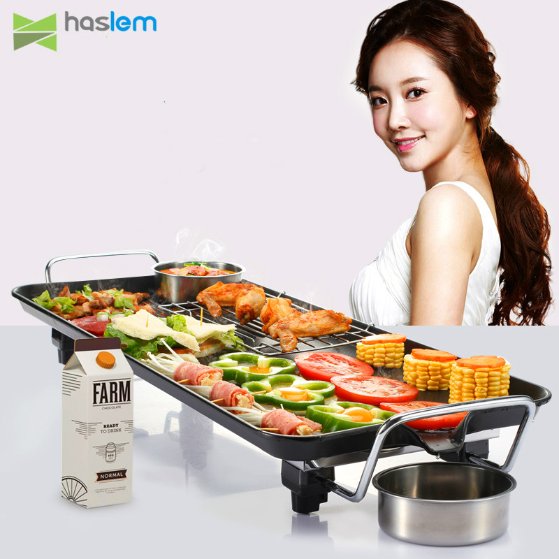 1500W household electric grill Korean style Non-stick electric oven Smokeless barbecue machine Teppanyaki Barbecue pot1500W household electric grill Korean style Non-stick electric oven Smokeless barbecue machine Teppanyaki Barbecue pot