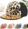 Punk Style Hip Hop Adult Unisex Baseball Cap Rivet Wing Fashion Snapback Adjustable Hats Caps High Quality Free Shipping