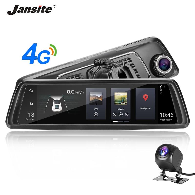 """Jansite 4G 10 """"écran tactile voiture DVR Dash Cam Android 5.0 GPS Navigation voiture enregistreur vidéo système ADAS vue arrière caméra miroir"""