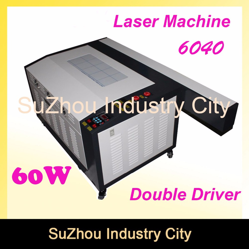 цены High Quality ! 110/220V CNC wood working 60W 400*600mm CO2 Laser Engraving Cutting Machine 4060 Laser with USB Sport