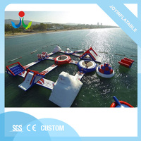 Cheap inflatable water floating water sea park with 0.9mm pvc,inflatable water amusement park