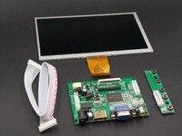 Miễn phí vận chuyển! 7 inch Raspberry Pi 3 TN LCD Với HDMI VGA AV Module Hiển Thị Màn Hình Pcduino Banana Pi 800x480