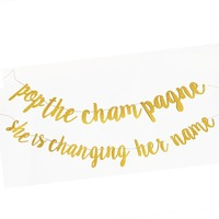 Девичник вечерние украшения комплект поставки Свадебные украшения для душа поп цвета шампанского она меняется ее имя блеск баннер