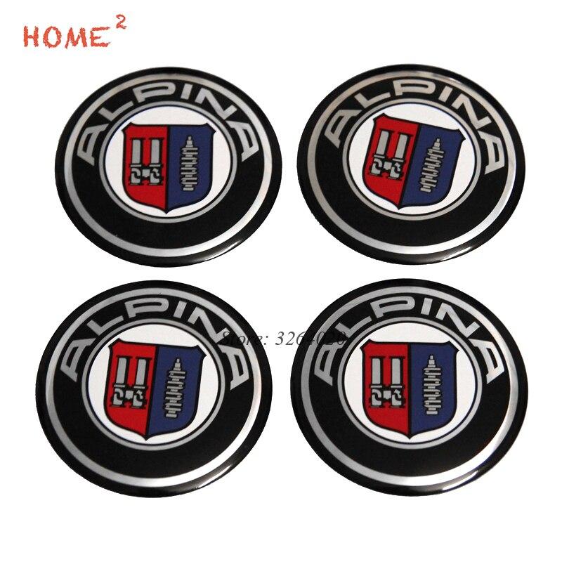56.5mm Car Accessories Tire Decoration Emblem for ALPINA Logo Wheel Rim Arc Surface Hub Caps for BMW E39 E46 F10 F30 X5 E53 F20 10pcs 20 8 1 9mm rubber hollow tire car wheel model wheels diy toy accessories for car f17678