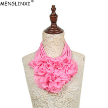 2018 New Solid Color Floral Collar Scarf Luxury Brand Women Fashion Neckerchief Ring Scarves Neck For Ladies
