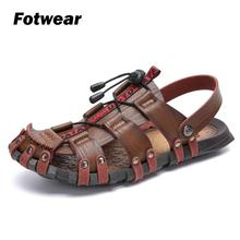 Fotwear Men sandals shoes ancient style Sandals Outdoor hand-made leather Big size 47 Soft comportable sole
