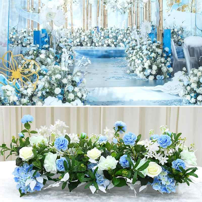 navy blue wedding reception decorations.htm artificial flowers blue rows wedding stage decor wedding arch  wedding stage decor wedding arch