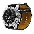 Reloj Hombre Mujer Unisex dial Grande Relojes de Pulsera de Moda de Ancho de Cuero Reloj Análogo Del Deporte Del Cuarzo Relogio masculino feminino Nuevo
