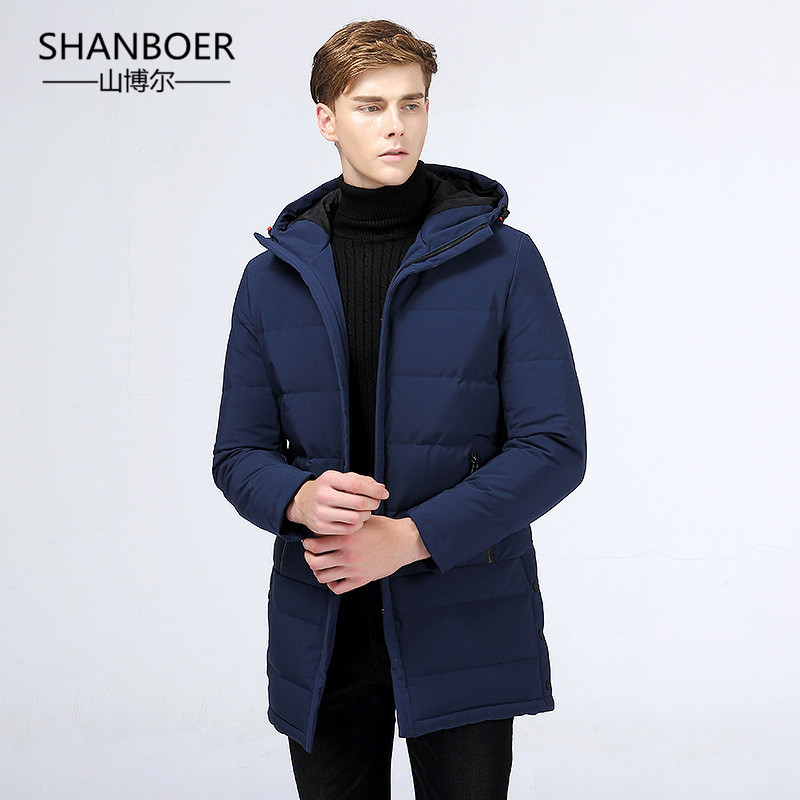 2018 Waterproof thick winter men   down   jacket brand-clothing hooded warm duck   down     coat   male puffer jacket Male Windproof Parka