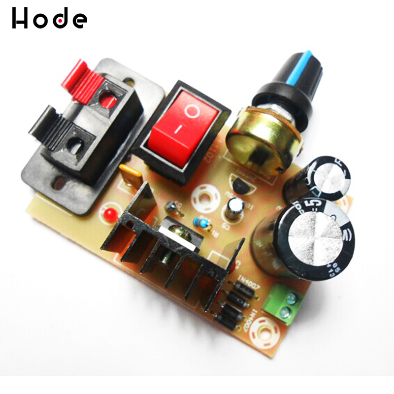 LM317 Adjustable Power Supply Board With Rectified DC AC Input DIY Kit