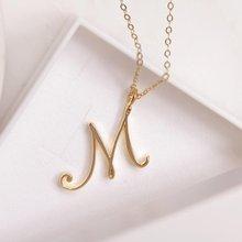 10pcs script initial m letter necklace cursive letter m name letter necklace for lovers birthday jewelry