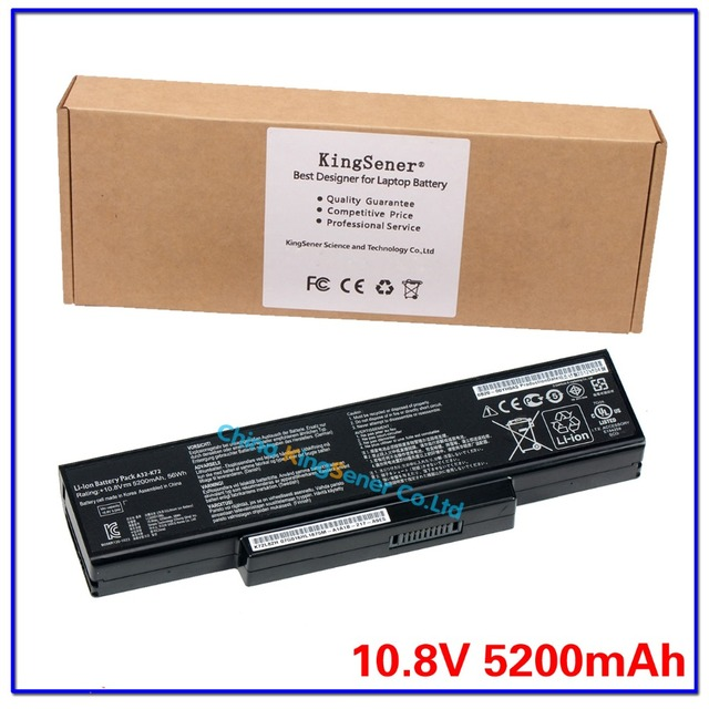 5200 mAh corea celular batería Original A32-K72 para ASUS K72Y K73 K73B K73BR K73BY K73E K73J K73JK K73S originales K73SD K73SJ K73SM nave motherboard K73SV K73T