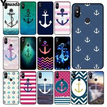 Yinuoda Anker beautiful birds and boat anchor blue Design Phone Case for Xiaomi Redmi 5 5Plus Note4 4X Note5 6A Mi 6 Mix2 Mix2S(China)
