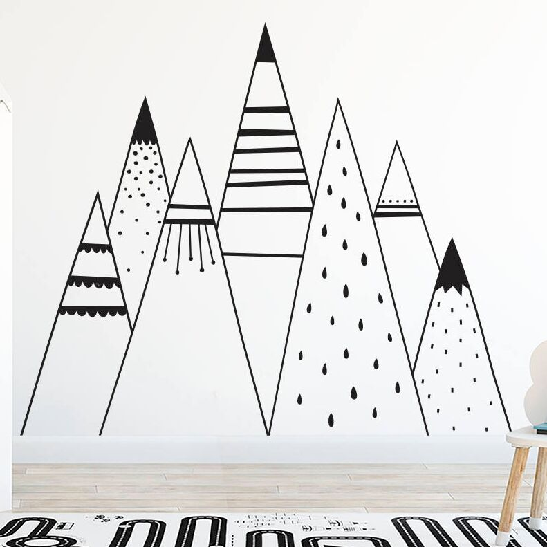 Aliexpress.com : Buy Mountain Range Wall Decal Mountain ...
