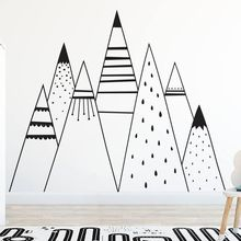 Mountain Wall Decal Sticker Babys Room Mural  Design Home Bedroom Decor AY0142