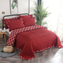 Red Blue Gray Purple High Quality Snow Velvet Cotton Comfortable Soft Thick Blanket Bedspread Bed sheet/Linen Pillowcases 3pcs