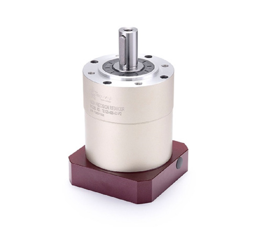 цена на 90 round flange Spur gear planetary reducer gearbox 8 arcmin 3:1 to 10:1 for 750w 1000w 86 AC servo motor input shaft 16mm