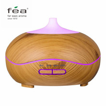 FEA 300ml Essential Oil Diffuser Wood Grain With Chroming Top Ultrasonic Aroma Cool Mist Humidifier for Office Bedroom Baby Room