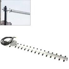 С высоким коэффициентом усиления 28dBi SMA штекер 4G 696-960 MHz/1710-2690 MHz Антенна Yagi SMA штекер
