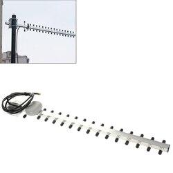 Tomada masculina da antena sma da tomada 4g 696-960 mhz/1710-2690 mhz yagi do ganho alto 28dbi sma