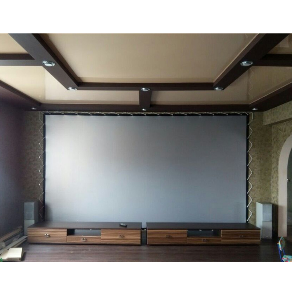 NIERBO Portable Projection Screen 120 Inches Silver Screens High Brightness  HD Fold Grommets Wall Mountable Ceiling Meeting Shop In Projection Screens  From ...