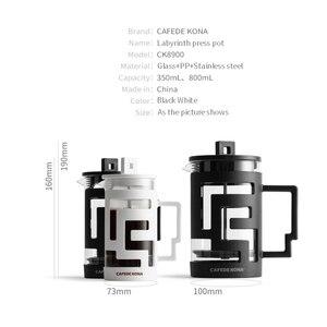 Image 5 - Cafetiere ฝรั่งเศสกดเครื่องชงกาแฟ 350ML 800ML เครื่องอัดฉีดเครื่องชงกาแฟหม้อแก้วเกรดอาหารผนังให้ช้อน