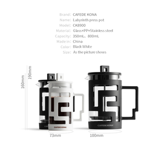 Image 5 - Cafetiere French Press Coffee Maker 350ML 800ML Percolators Coffee Maker Coffee Pot With Food Grade Glass wall Give a Spoon