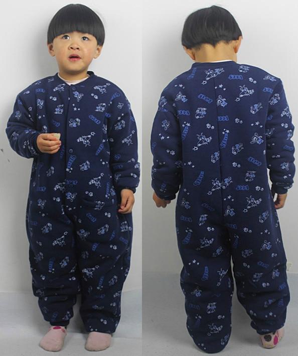 pulsuz çatdırılma Uşaq yataq paltarları romper uşaqlar 4-14 il boyunca payız qış uşaq paltarları