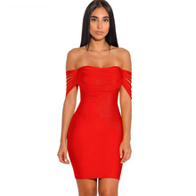 Bandage Off The Shoulder Celebrity Party Dresse