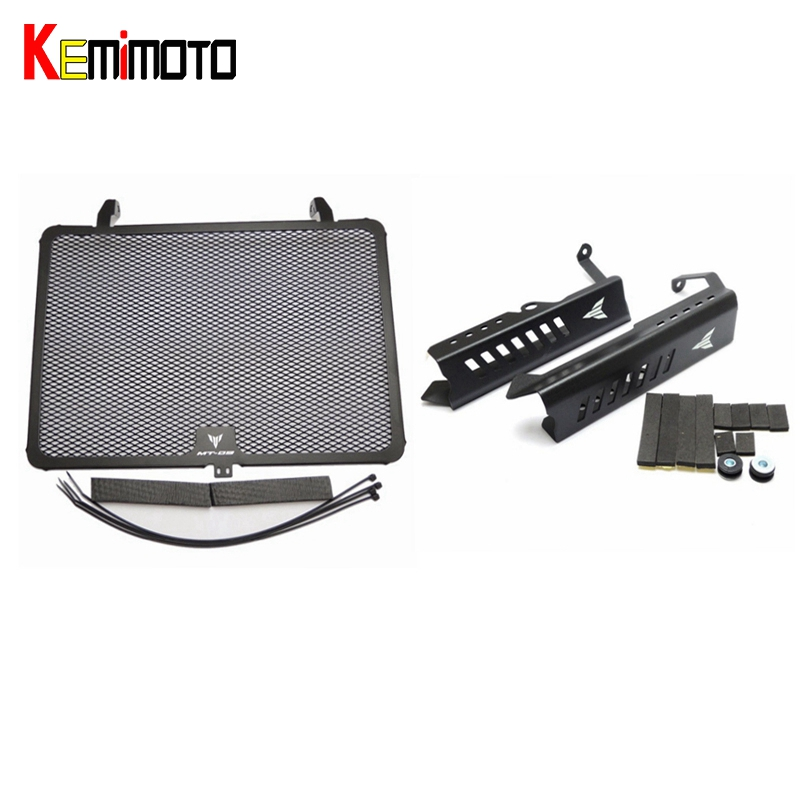 KEMiMOTO For Yamaha MT 09 FZ-09 MT09 Black Radiator Grills Grille Guard Cover Protector For Yamaha FZ09 MT-09 FZ 09 2014-2016 arashi 1 pair air intake inlet guard cover protector for yamaha mt 09 mt09 fz 09 2014 2015 2016 5 colors