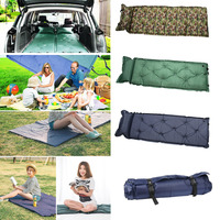 Hot Self Inflating Camping Roll Mat Sleeping Bed Inflatable Pillow Mattress +Bag Camping Air Mattress Bed Can Tiled in SUV Trunk