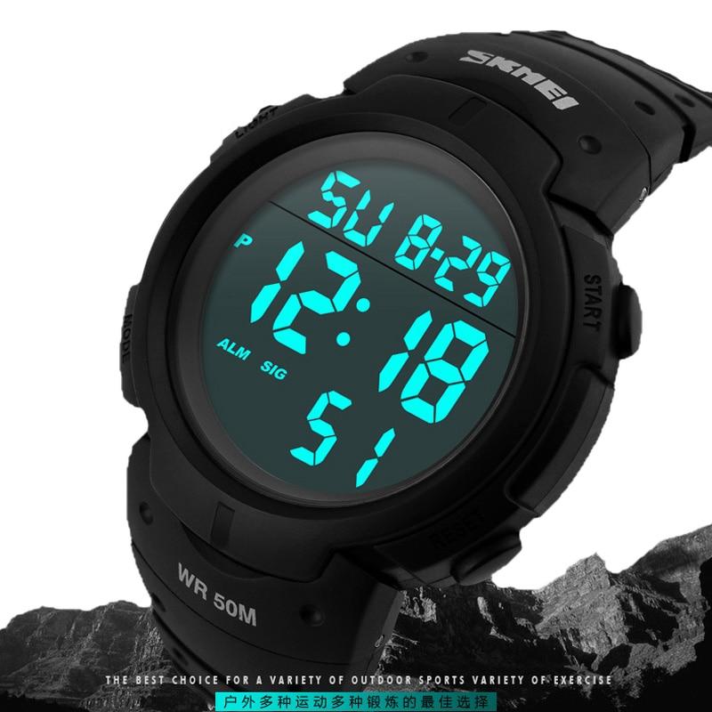 Uhren Skmei Herren Sport Uhren Top-marke Luxus Dive Digitale Led Military Watch Männer Mode Lässig Elektronik Armbanduhren Uhr Männer