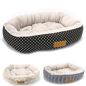 COOBY Pet Beds with waterproof Bottom for Dogs and Cats Built With Canvas Outside and PP Cotton Inside