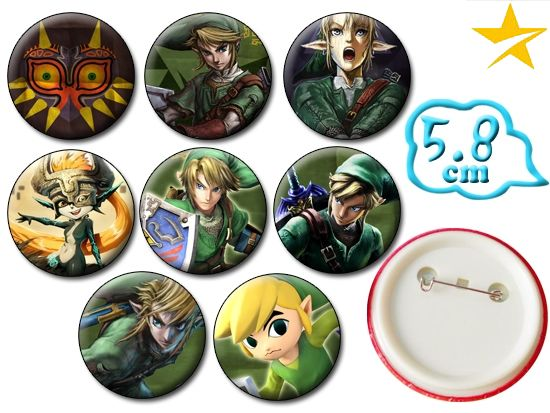 Giancomics Hot The Legend of Zelda Pins Set Badges Cartoon Brooch Chest Jewelry Cosplay Costume Collection Otaku Ornament Gift